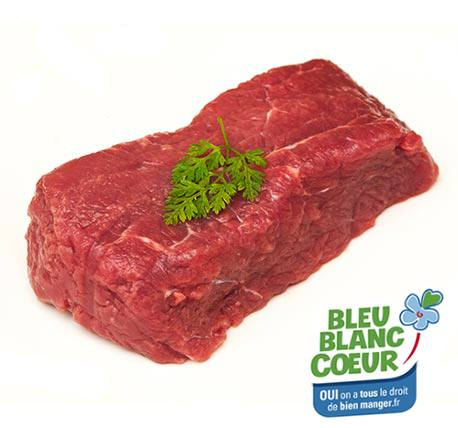 A delicious cut of beef on white background